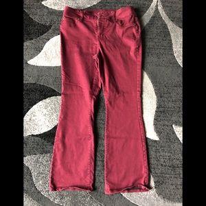 Bootcut IMAN burgundy jeans 12 boot cut
